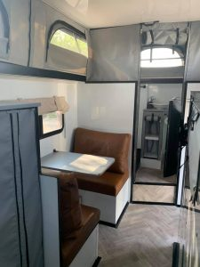 dinette and bathroom